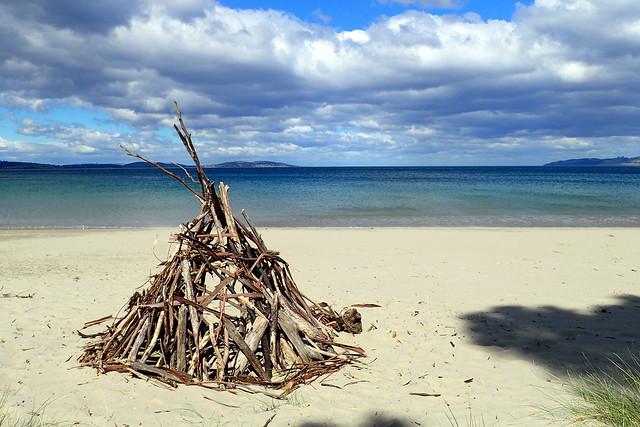 Stick Shelter - Kingston Beach