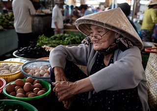 80 year old stall holder in Dam Market, Nha Trang