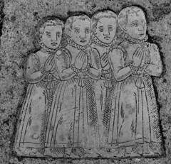four sad little boys