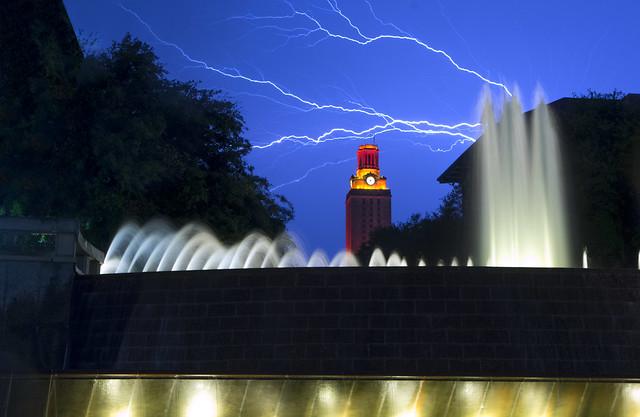 UT Tower in Storm (Explore)