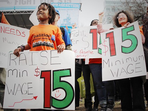 Fight for $15 rally | by 350.org