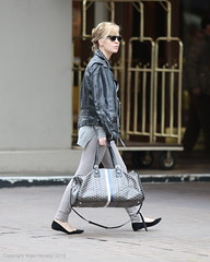 Melissa George, with Goyard monogram travel tote, Vancouver, March 24 2015  5