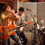 Thu, 12/03/2015 - 8:16pm - Brandi Carlile, Phil and Tim Hanseroth and the band, Electric Lady Studios session, NYC. Hosted by Rita Houston. Photo by Gus Philippas.