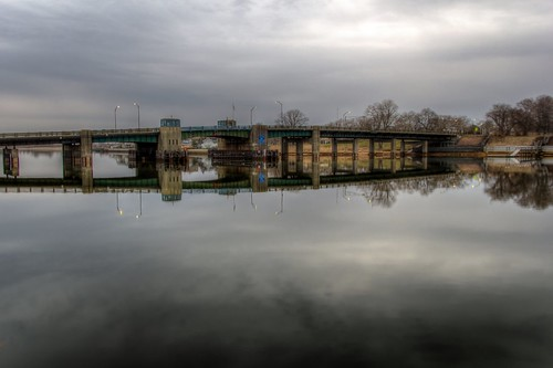 2015 spring bridge shrewsbury river reflection seabright rumson nj og hdr 365the2015edition 3652015 day97365 day97 7apr15