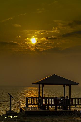 ocean sunset sun canon golden view taiwan pavilion