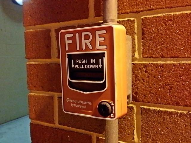Fire alarm at New Street parking garage