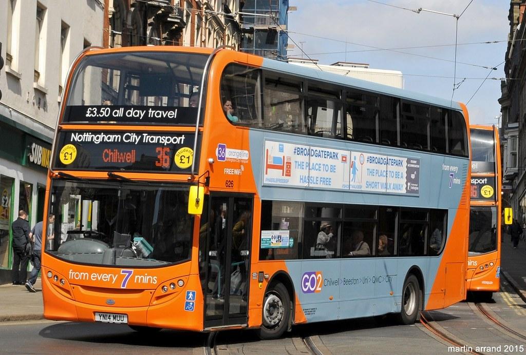 YN14MUU 626 Nottingham city transport
