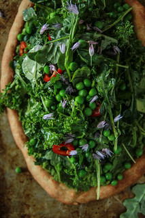 Green Goddess Pizza- Vegan and Gluten Free from HeatherChristo.com | by Heather Christo