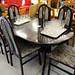Black oak extendable table