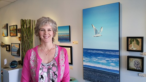 Jessie Taylor Dodd at 1st year anniversary of South Shore Gallery | by southshoregallerysookebc