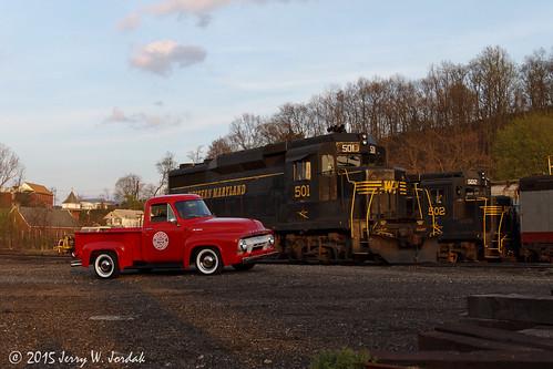 sunset usa train truck mercury wm wv wmsr 501 502 gp30 ridgeley