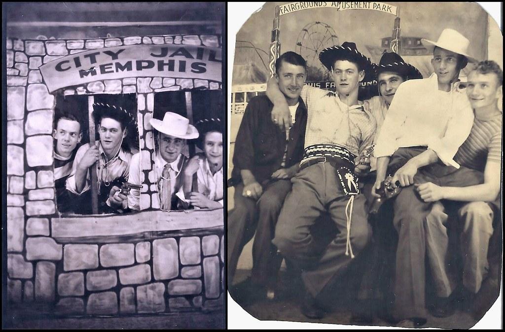 1950s Souvenir Photos Of Guys At Mid South Fair Memphis