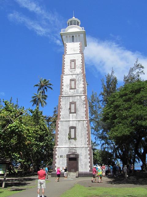 Tahiti. Port Venus lighthouse.