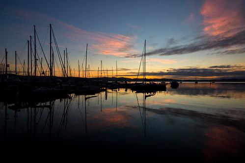 morning sky reflection marina sunrise reflections still calm tasmania yachts hobart masts dss