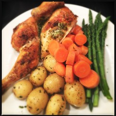 #homealone #bachelormeal #meat&twoveg #spatchcock #chicken