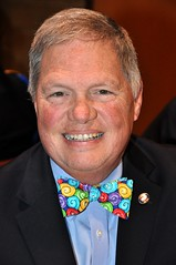 Greg Wallac!e ALWAYS wears a bow tie. Today's was especially great to look at