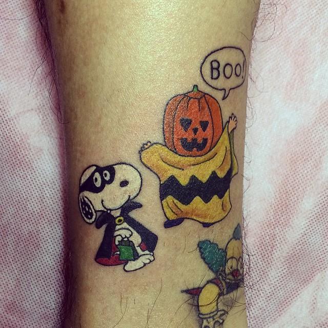 Tattoo Halloween Halloweentattoo Snoopy Snoopytattoo Flickr