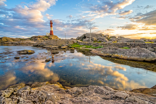 The day fades at Eigeroy lighthouse