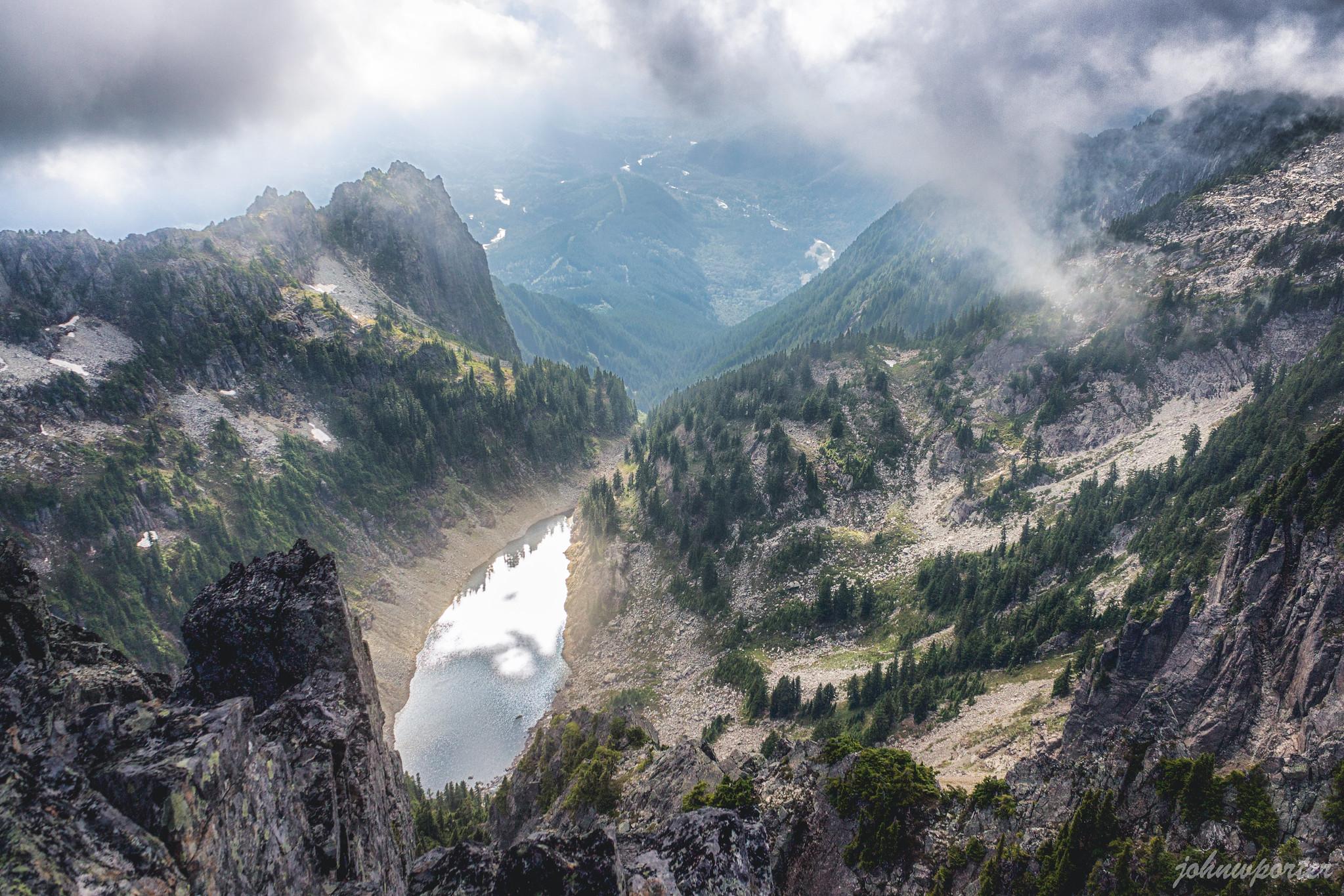 Gunn Lake below Gunn Peak