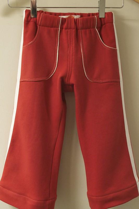 retro red track pants