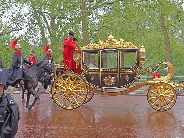 Her Majesty the Queen accompanied by The Sovereign's Escort to the State Opening of Parliament, London, England (May 18, 2016)