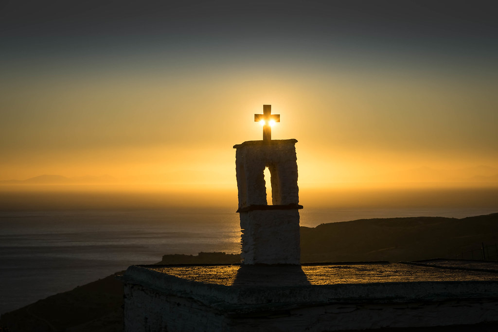 Sunset at Chapel Άγιος Χαράλαμπος