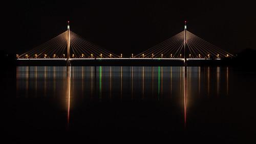 Megyeri Bridge at night | by sonic182