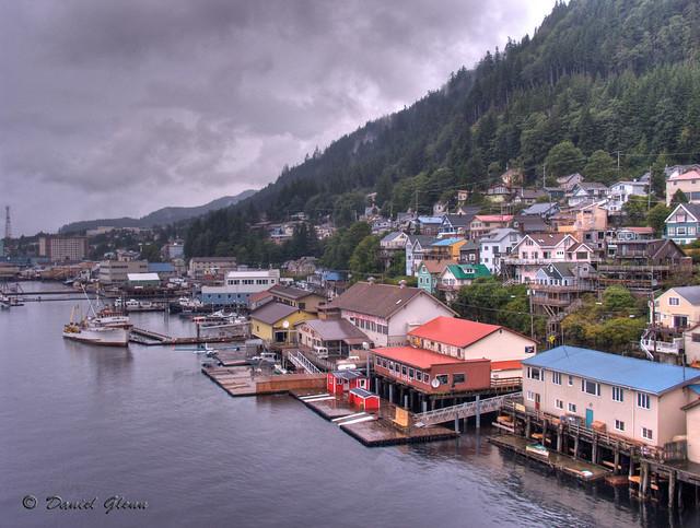 Soft, rainy, Ketchikan, Alaska