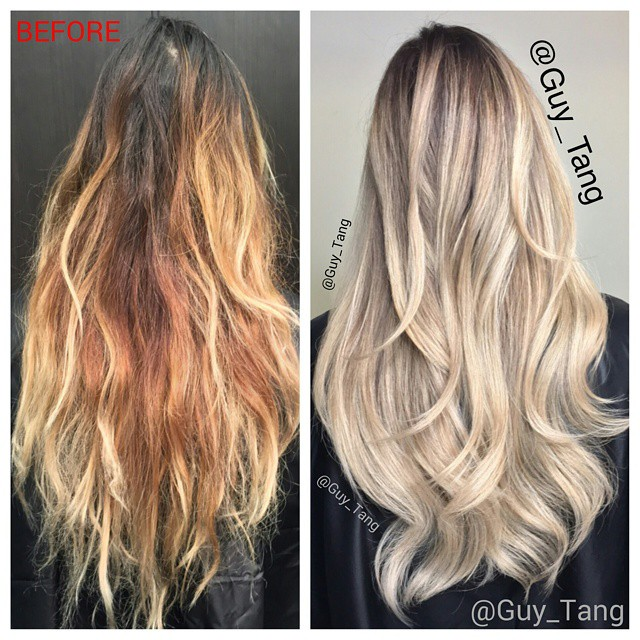 5223aba68 ... My client Caroline had a hair disaster that is damaged,brassy with very  uneven lift