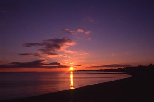 sunset film beach nikon connecticut ct nikonf100 nikkor agfa e6 fairfield lighthousepoint fairfieldbeach agfactprecisa100 fairfieldcounty nikkor28mmf28afd