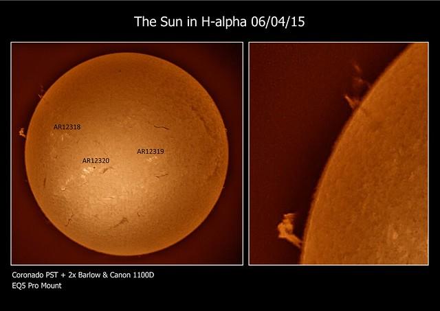 The Sun in H-alpha 06/04/15