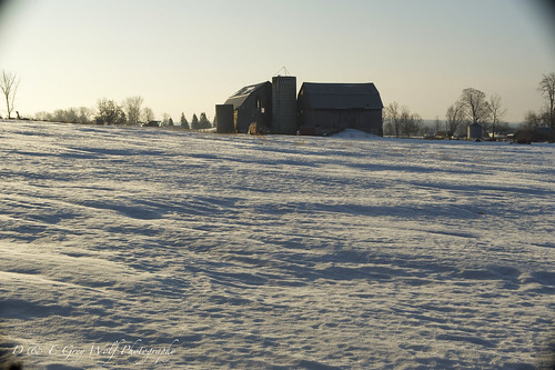 winter sunrise farm