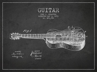 Stratton guitar patent Drawing from 1893 | by Patents Wall Art