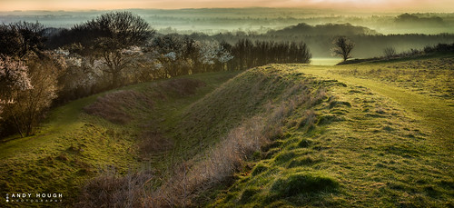 morning trees england dykes mist history grass sunrise ancient unitedkingdom sony wallingford earthworks wittenhamclumps southoxfordshire a99 sonyalpha andyhough earthtrust slta99v andyhoughphotography
