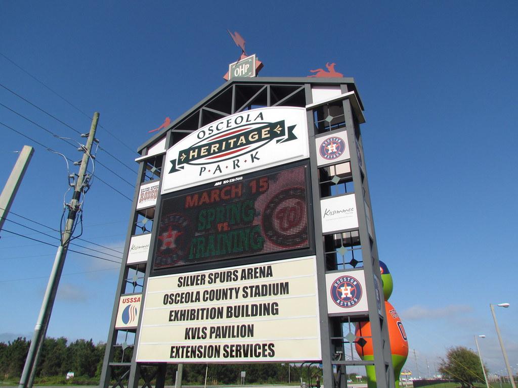 Heritage Park Street Sign At Osceola County Stadium Kis Flickr