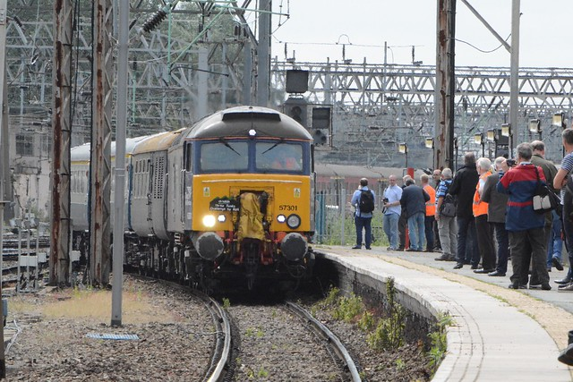 Direct Rail Services Revised 'Compass Swoosh' Class 57/3, 57301
