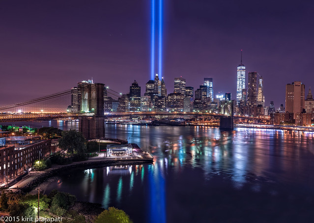 9/11/15 tribute light