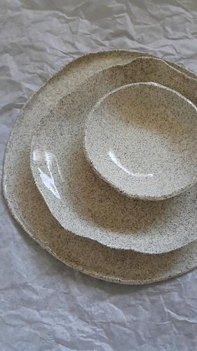 Hand thrown ceramics plates bowls | by michtsang