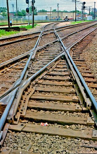 tracks railroadtracks muncieindiana conrail norfolksouthern railroadcrossings railroaddiamonds