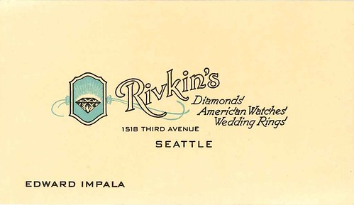 Rivkin's Jewelers business card, circa 1940s | by Seattle Municipal Archives