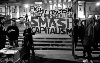 Fight Racism Fight Imperialism - Anti-Trump protesters start to gather in London's Trafalgar Square. | by alisdare1
