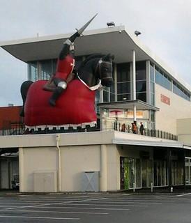 Crusader Horse rider at Eastgate Mall