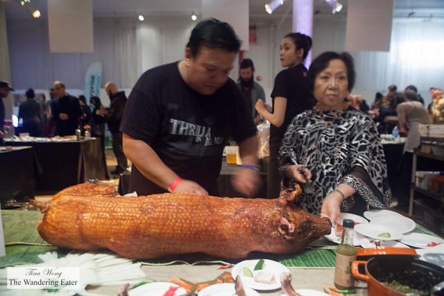 Lechon (Filipino roast suckling pig) by Kuma Inn