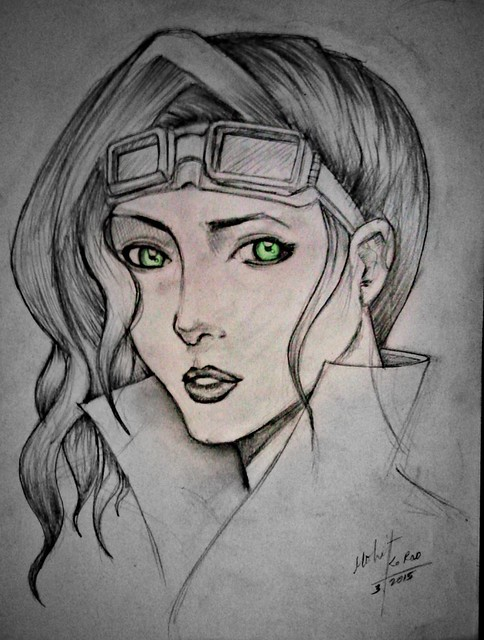 Eveline (anime girl) drawing by mohit kumar rao artist 2015