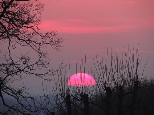 sunset sonnenuntergang cloudy nacht escheburg