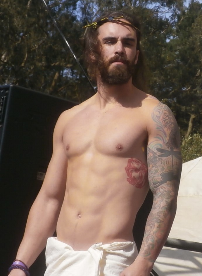 the TOP HUNKY JESUS at the HUNKY JESUS CONTEST (safe photo)