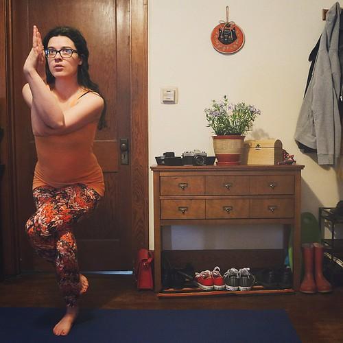 April 12: eagle! (Doing #badyogisdoit with @angbisho !) #yoga | by rachelakelso