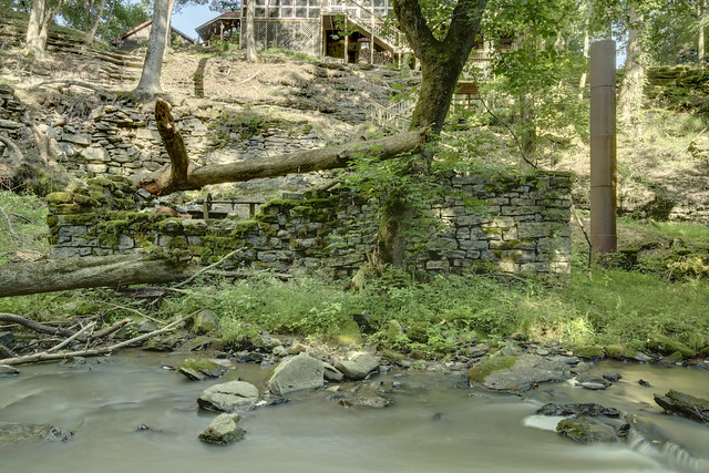 J. A. P. Faucher's mill ruins, Taylor Creek, White County, Tennessee