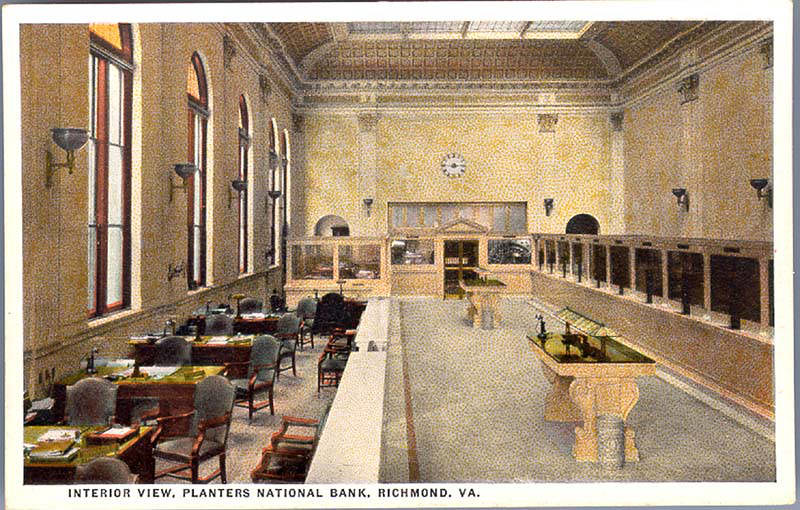 Interior View, Planters National Bank, Richmond, Va  | Flickr
