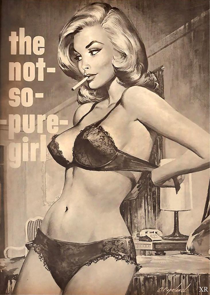 Vintage photo affectionate girls woman hug bikini beach pinup lesbian int